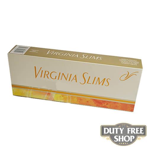 Блок сигарет Virginia Slims Gold 100's USA