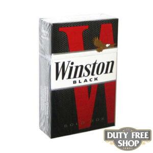 Пачка сигарет Winston Black USA