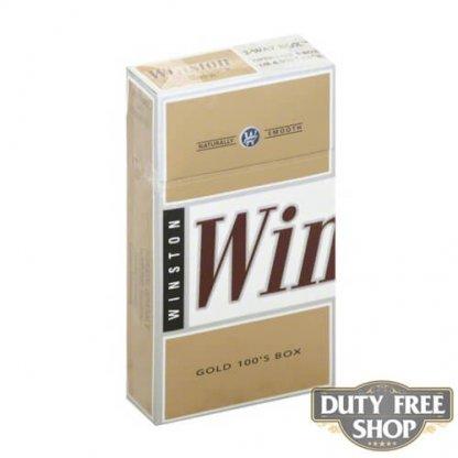 Пачка сигарет Winston Gold 100's USA