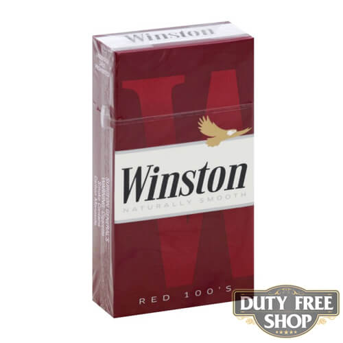 Пачка сигарет Winston Red 100s USA