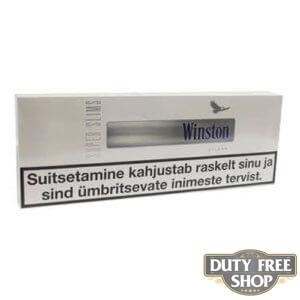 Блок сигарет Winston SuperSlims Silver Duty Free