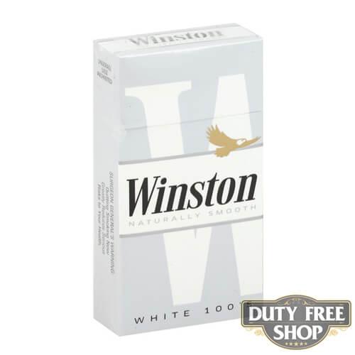 Пачка сигарет Winston White 100's USA