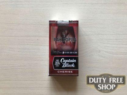 Живое фото пачки сигарилл Captain Black Cherise RUS