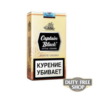 Пачка сигарилл Captain Black White Crema RUS Duty Free