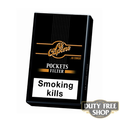 Пачка сигарилл Al Capone Pockets Filter Duty Free
