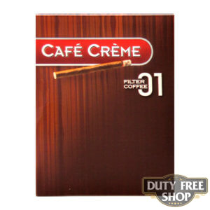 Пачка сигарилл Cafe Creme Filter 01 Coffee 8 cigars Duty Free