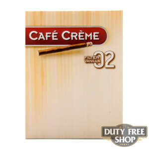 Пачка сигарилл Cafe Creme Filter 02 Vanilla 8 cigars Duty Free