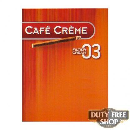 Пачка сигарилл Cafe Creme Filter 03 Cream 8 cigars Duty Free