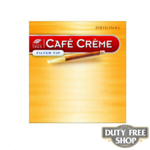 Пачка сигарилл Cafe Creme Filter Tip Original 10 cigars Duty Free