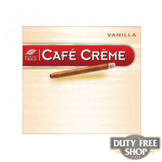 Пачка сигарилл Cafe Creme Vanilla 10 cigars Duty Free