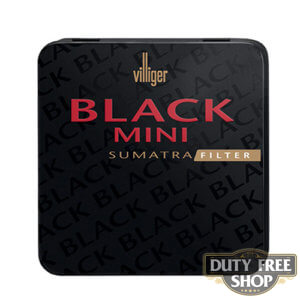 Пачка сигарилл Villiger Mini Black Sumatra Filter Duty Free