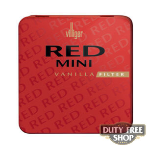 Пачка сигарилл Villiger Mini Red Vanilla Filter Duty Free
