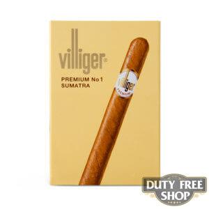Пачка сигарилл Villiger Premium No 1 Sumatra Duty Free