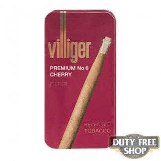 Пачка сигарилл Villiger Premium No 6 Cherry Duty Free