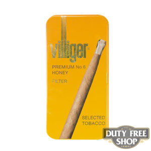 Пачка сигарилл Villiger Premium No 6 Honey Duty Free