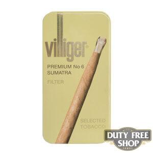 Пачка сигарилл Villiger Premium No 6 Sumatra  Duty Free