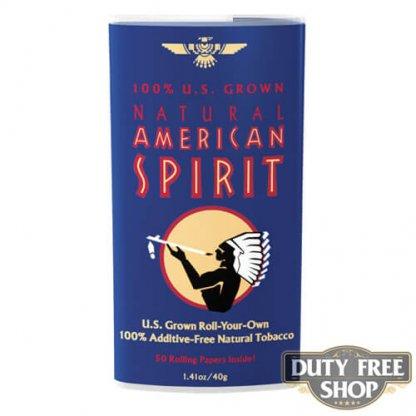 Пачка табака для самокруток American Spirit 100% U.S. Grown Blend (Dark Blue) USA 40g