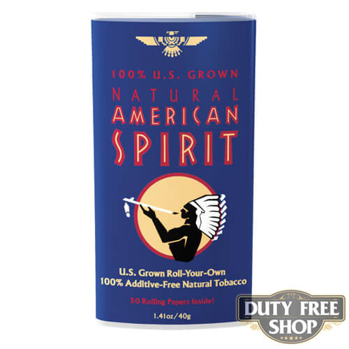 Пачка табака для самокруток American Spirit 100% U.S. Grown Blend (Dark Blue) USA 40g