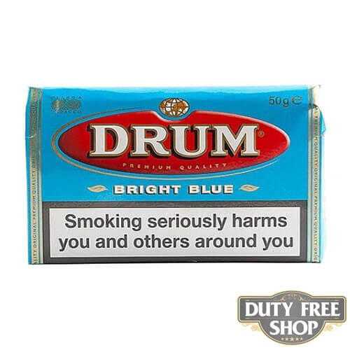 Пачка табака для самокруток DRUM Bright Blue 50g Duty Free