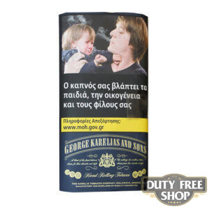 Пачка табака для самокруток George Karelias and Sons Dark Blue 30g Duty Free