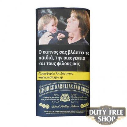Пачка табака для самокруток George Karelias and Sons Dark Blue 30g Duty Free
