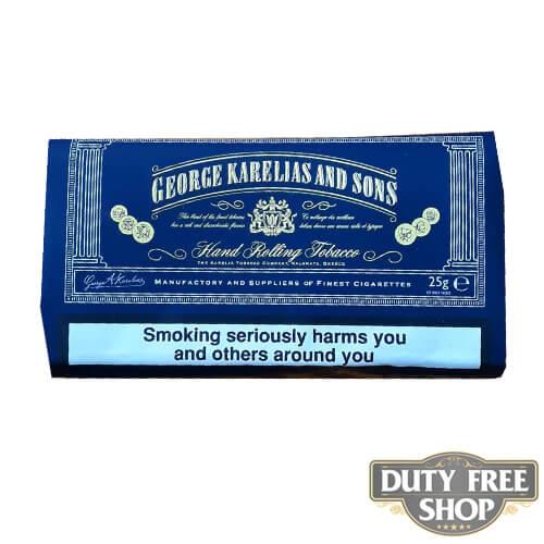 Пачка табака для самокруток George Karelias and Sons Mavi Blue 25g Duty Free