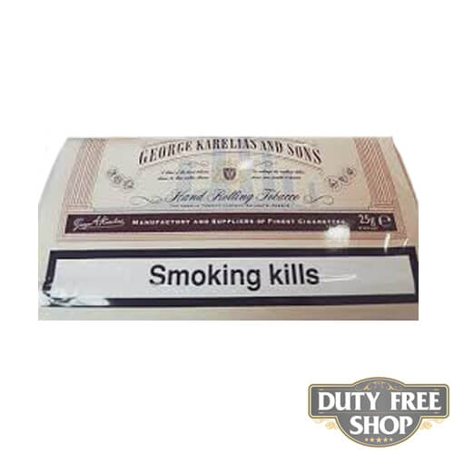 Пачка табака для самокруток George Karelias and Sons Normal 25g Duty Free