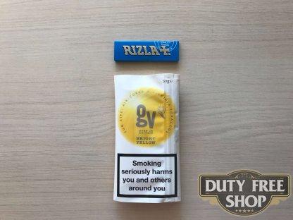 Живое фото пачки табака для самокруток GV Bright Yellow (Golden Virginia) 50g Duty Free