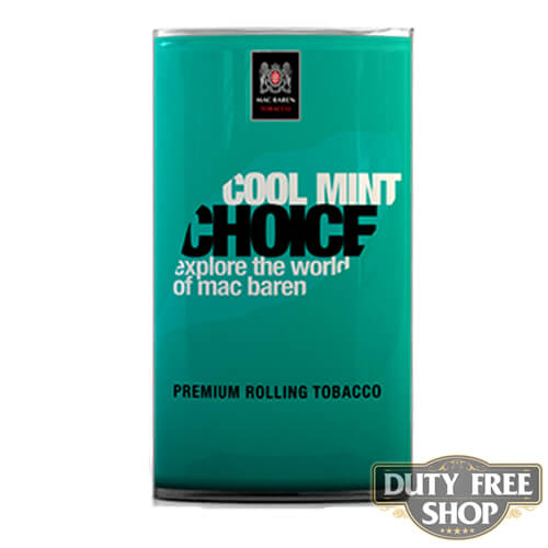 Пачка табака для самокруток Mac Baren Cool Mint Choise 40g Duty Free
