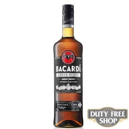 Ром Bacardi Carta Negra (Black) 40% 1L Duty Free