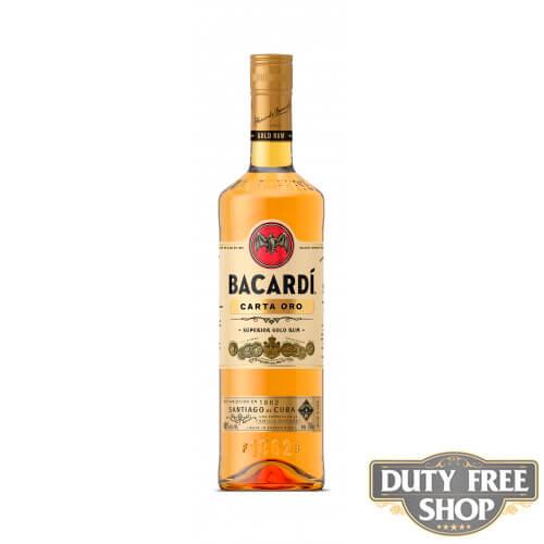 Ром Bacardi Carta Oro (Gold) 40% 1L Duty Free