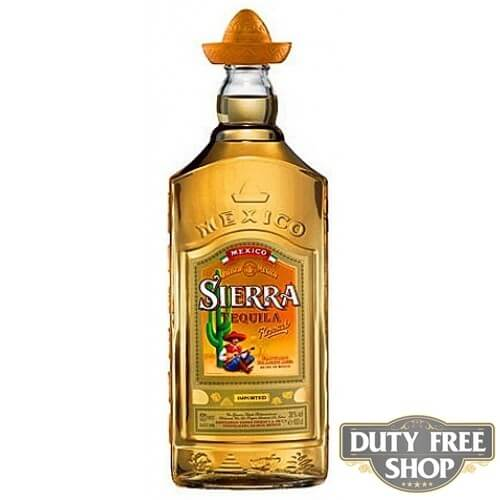 Текила Sierra Reposado Gold 38% 1L Duty Free