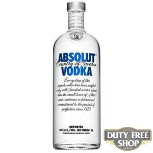 Водка Absolut Vodka 40% 1L Duty Free