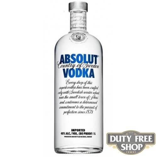 Водка Absolut Vodka 40% 1L Duty Free